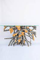 Консольный стол из корня тикового дерева,высота 80см