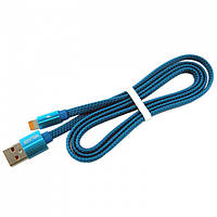 USB кабель iPhone Lightning WALKER C755 синий