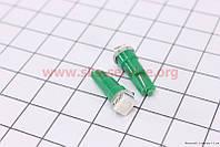 Светодиодная автолампа 1-диодная для подсветки приборов зеленая T5, 2шт