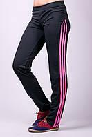 Женские штаны спортивные трикотажные черные