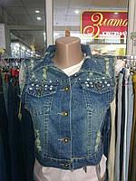 Жилетка джинсовая женская