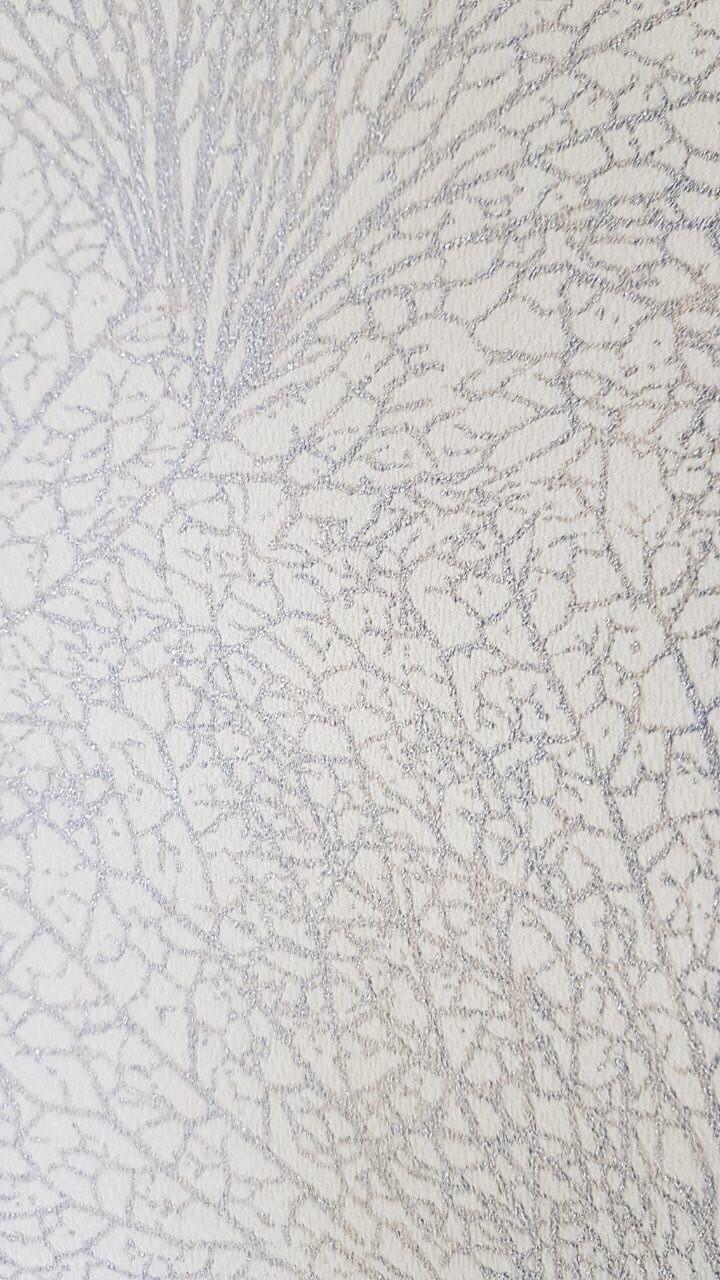 Обои виниловые на флизелиновой основе Marburg 31384 Origin метровые ветки паутинка серебряные на молочном фоне