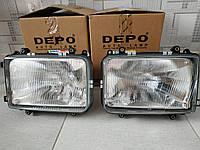 Фара левая DAF 95XF 1997-2002 фара головного освещения ДАФ 95ХФ Евро2 DEPO 4501102LLDEN 450-1102L-LD-E 1293360