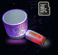 Беспроводная блютуз колонка AMY146.  Bluetooth колонка переносная. Подсветка. , фото 1