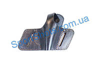 """Кобура поясная кожаная """"бабочка"""" для пистолета ПМ, МР654к. Носится на поясном ремне. Вертикальная фиксация"""