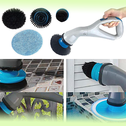 Беспроводная щётка для уборки с 3-мя насадками Muscle Scrubber