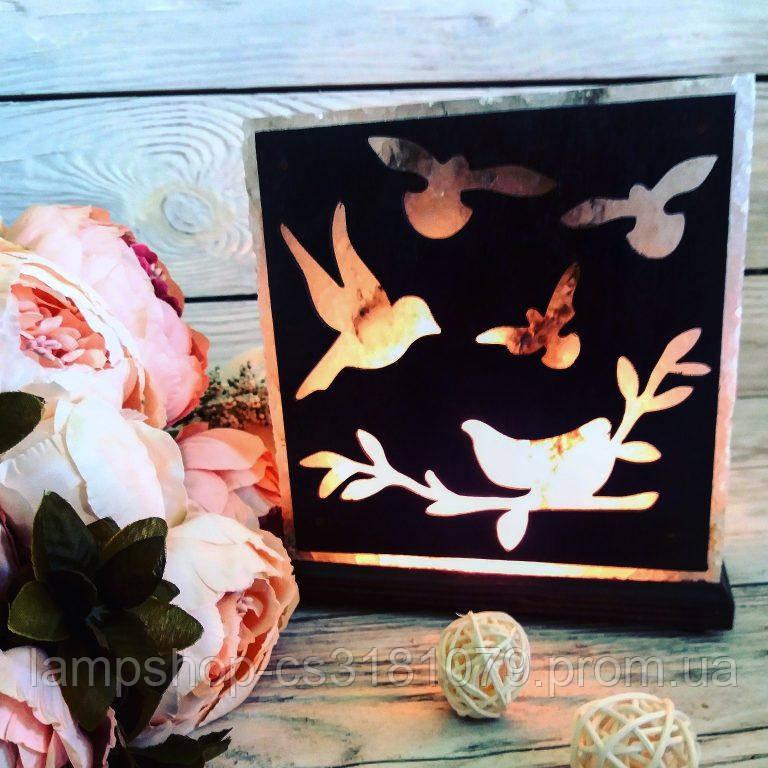 Солевая лампа «Птицы» 3-4кг