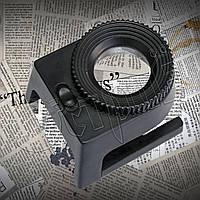 Лупа- стойка 9006 с подсветкой и чехлом в комплекте, фото 1