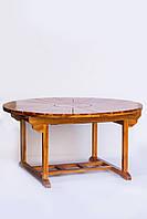 Стол обеденный раскладной из тика, 1.50м/2.10м