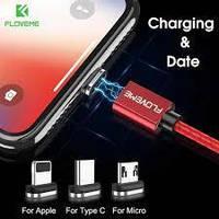 Магнитный зарядный кабель Micro usb type C для iPhone. Магнитное зарядное устройство. Черный, красный, серый.., фото 1