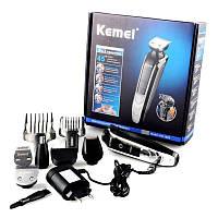 Многофункциональный набор Kemei KM 1832 для стрижки волос и бороды, аккумуляторный, 5 насадок, фото 1