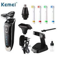 Ручной стайлер Kemei Km-5181 роторный, аккумуляторный, 4 бритвенные головки, , фото 1