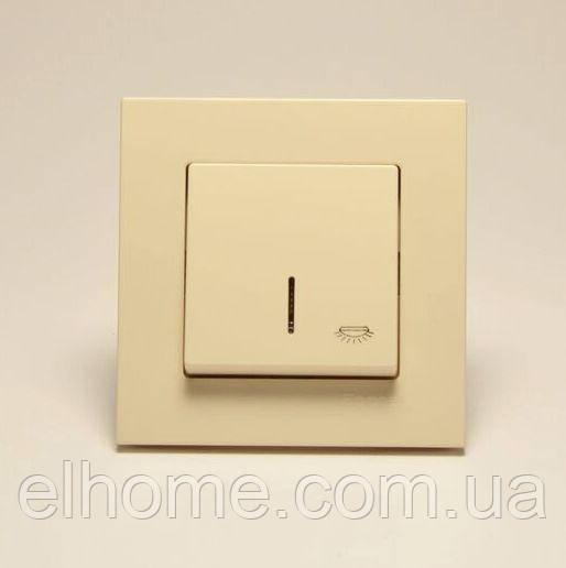 Кнопка контролю освітлення з підсвіткою Gunsan Eqona крем