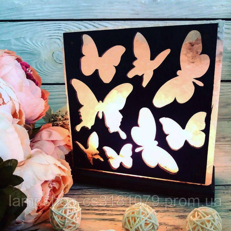 Соляной светильник «Бабочки» 3-4кг