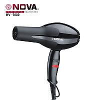 Мощный фен для волос Nova NV-7080 2500 Вт, 2 режима скоростей, насадка для укладкии, фото 1