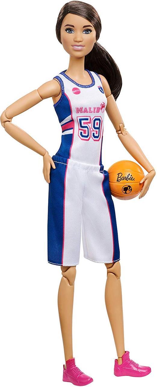 Кукла Барби Баскетболистка Йога Двигайся как я Barbie Made to Move Basketball Player