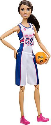 Кукла Барби Баскетболистка Йога Двигайся как я Barbie Made to Move Basketball Player, фото 2