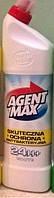 Средство для мытья и дезинфекции унитазов и сантехники AGENT MAX 24 h+ 1,1 l, фото 1