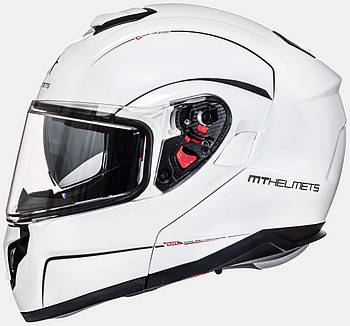 Мотошлем MT ATOM gloss pearl white