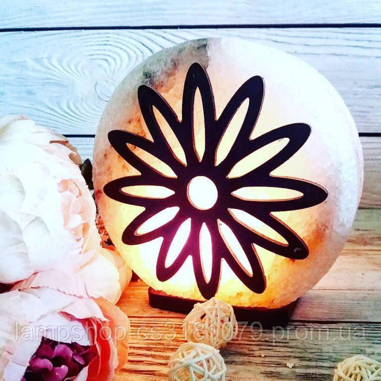 Солевая лампа «Цветок» 3-4кг