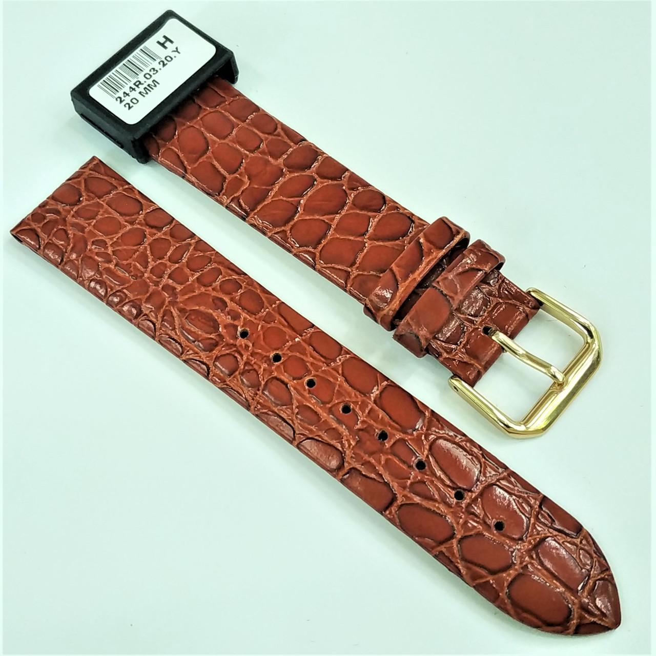 20 мм Кожаный Ремешок для часов CONDOR 244.20.03 Коричневый Ремешок на часы из Натуральной кожи
