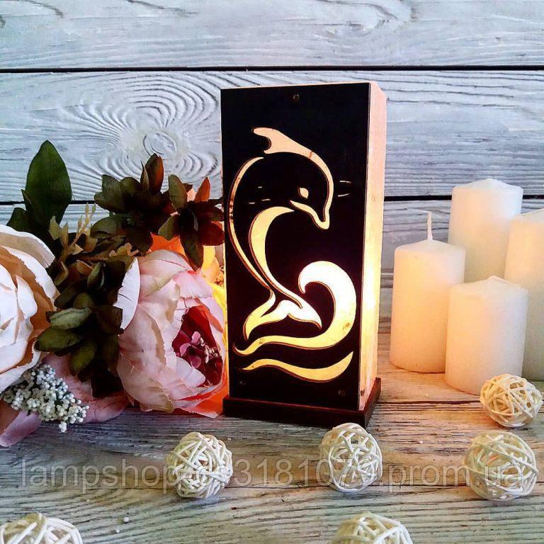 Соляная лампа «Дельфин» 2кг