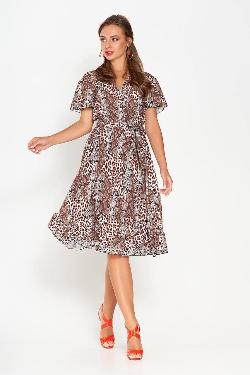 Платье с леопардовым принтом с 44 по 50 размер