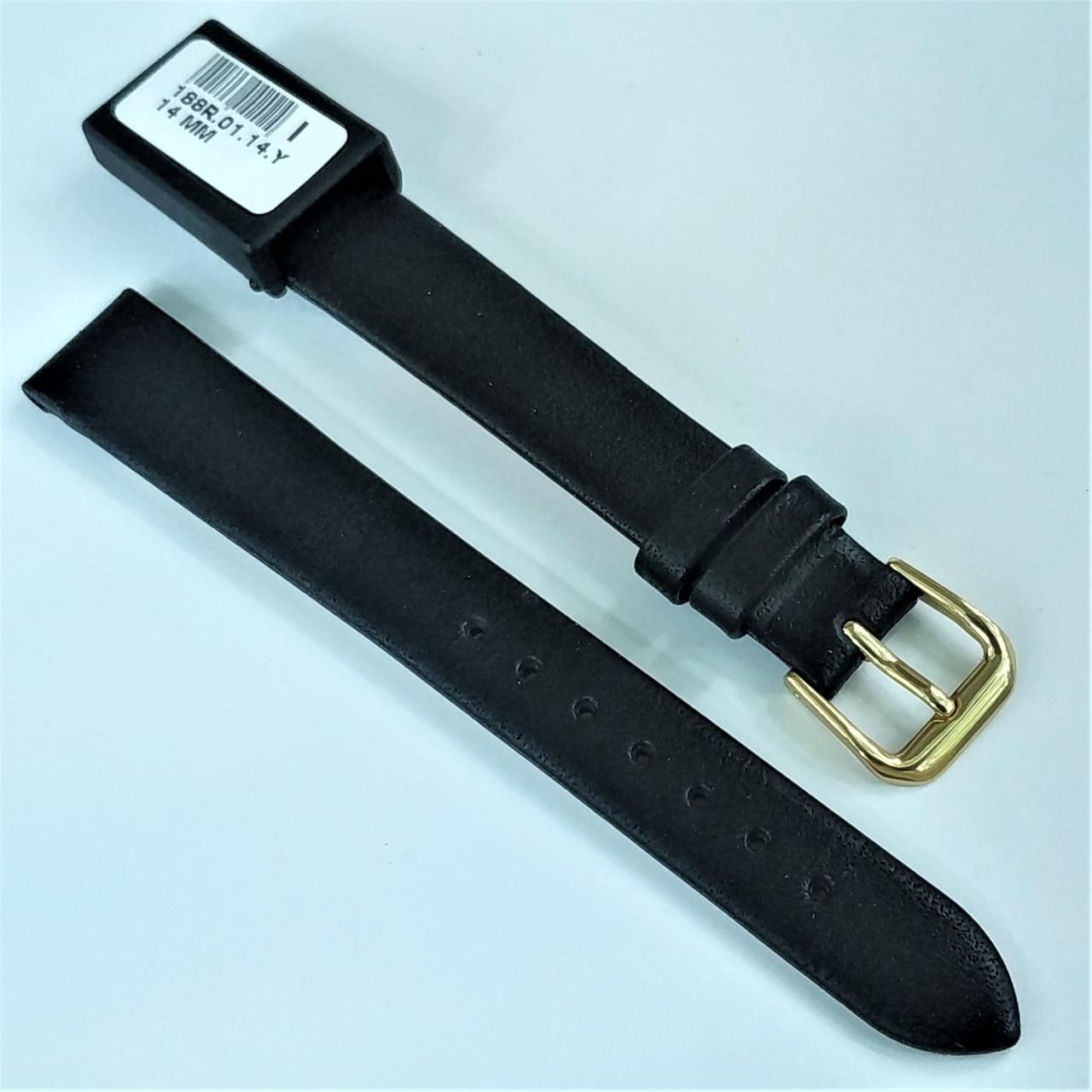 14 мм Кожаный Ремешок для часов CONDOR 188.14.01 Черный Ремешок на часы из Натуральной кожи