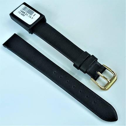 14 мм Кожаный Ремешок для часов CONDOR 188.14.01 Черный Ремешок на часы из Натуральной кожи, фото 2