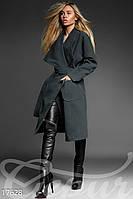 Шерстяное пальто на запáх Gepur Premium coats 17628