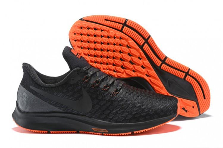 Кроссовки Nike Air Zoom Pegasus 35 Black Orange 942851-099 Sneakers Men's Running Shoes мужские