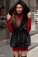 Теплый меховой жилет Gepur Premium coats 24773