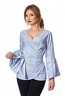 ✔️ Женская блузка с запахом 42-48 размера серая, фото 1