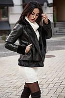Комбинированная куртка-авиатор Gepur Premium fur 28931