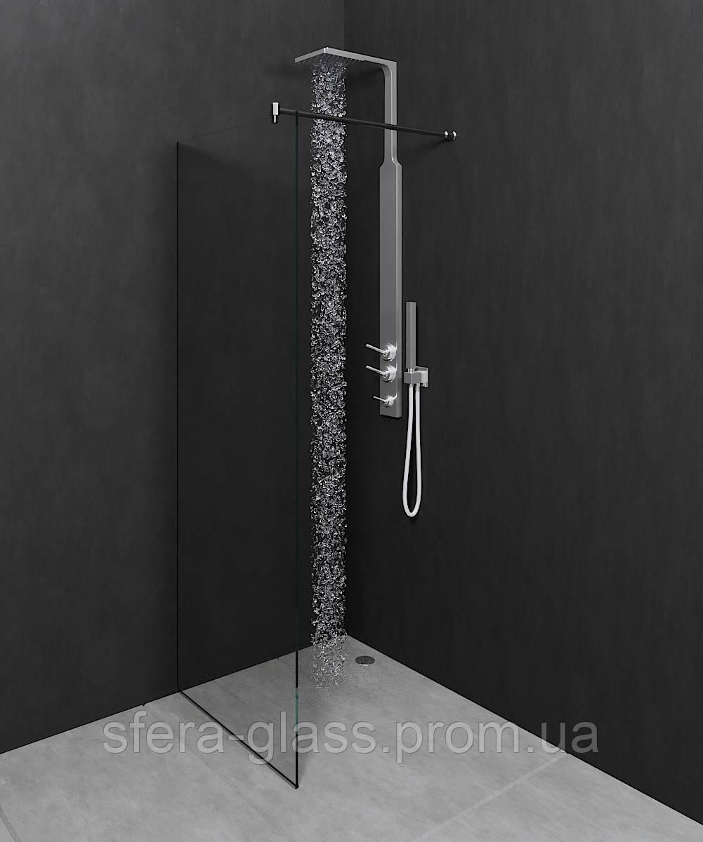 Стеклянная перегородка в ванную комнату Coral