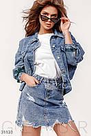 Джинсовая куртка-oversize Gepur Weekday 31133