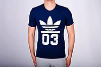 Футболка мужская Adidas темно-синяя