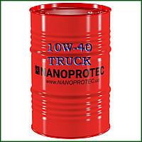 Масло моторное NANOPROTEC 10W-40 TRUCK HC-Synthetic, 200 литров