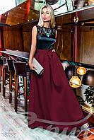Изысканное вечернее платье с юбкой из габардина Gepur Penthouse 18788