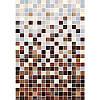 Плитка Гламур 3С коричневый микс 275x400 мм ТМ Керамин