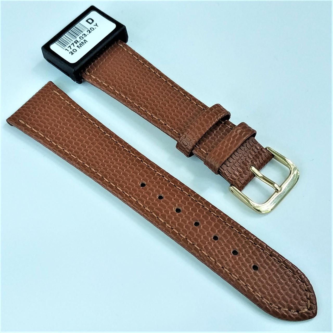 20 мм Кожаный Ремешок для часов CONDOR 177.20.03 Коричневый Ремешок на часы из Натуральной кожи