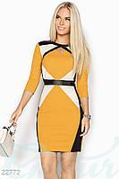 Платье с кожаными вставками Gepur Moment 22772