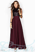 Платье с кожаными вставками Gepur Release 23310