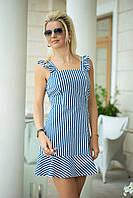 Летнее Платье в синюю полоску, фото 1