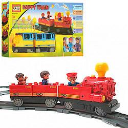 Конструктор детский Железная дорога M0440 U/R/6188А со светом и звуком