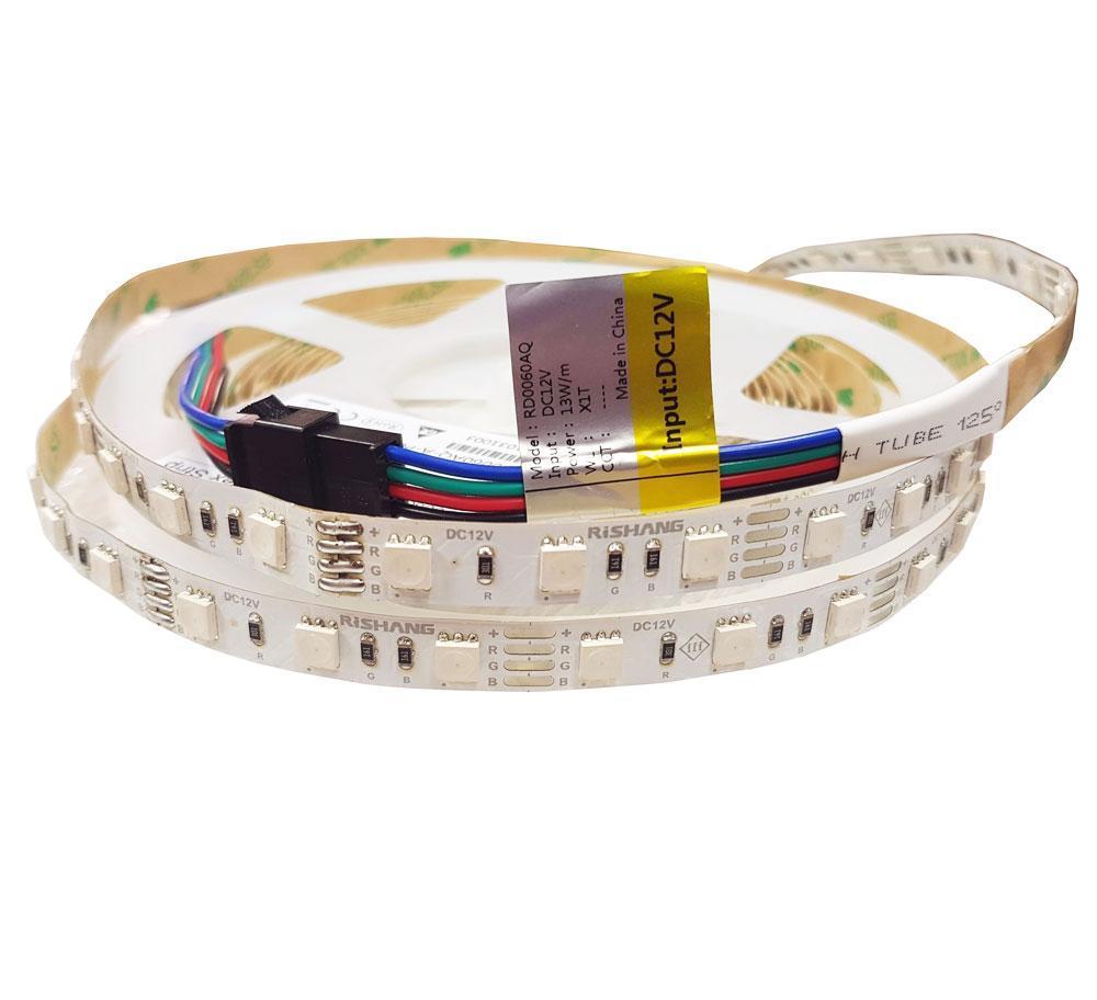 RGB светодиодная стрічка 12вольт 12.9Вт 560лм 5050-60-IP20-RGB-10-12 RD0060AQ Рішанг 11691о