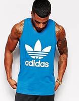 Майка мужская Adidas синяя