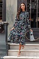 Цветочное шифоновое платье Gepur Promenades 30440