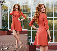 Женское короткое платье переплёт №41247 (р.42-48) терракот, фото 1