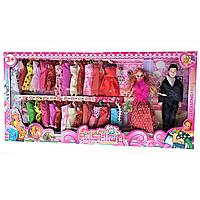 """Кукла """"Барби""""  """"Семья"""", с набором одежды, в коробке"""